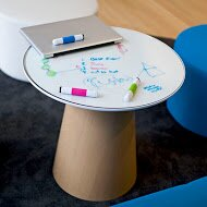 Campfire Glass Tabletop for Paper Table by Steelcase
