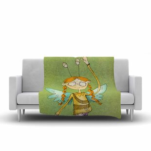 Top Reviews Carina Povarchik Urban Fairy Girl Kids Fleece Blanket ByEast Urban Home