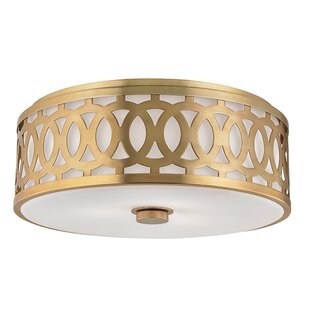 Everly Quinn Maspeth 3-Light Flush Mount