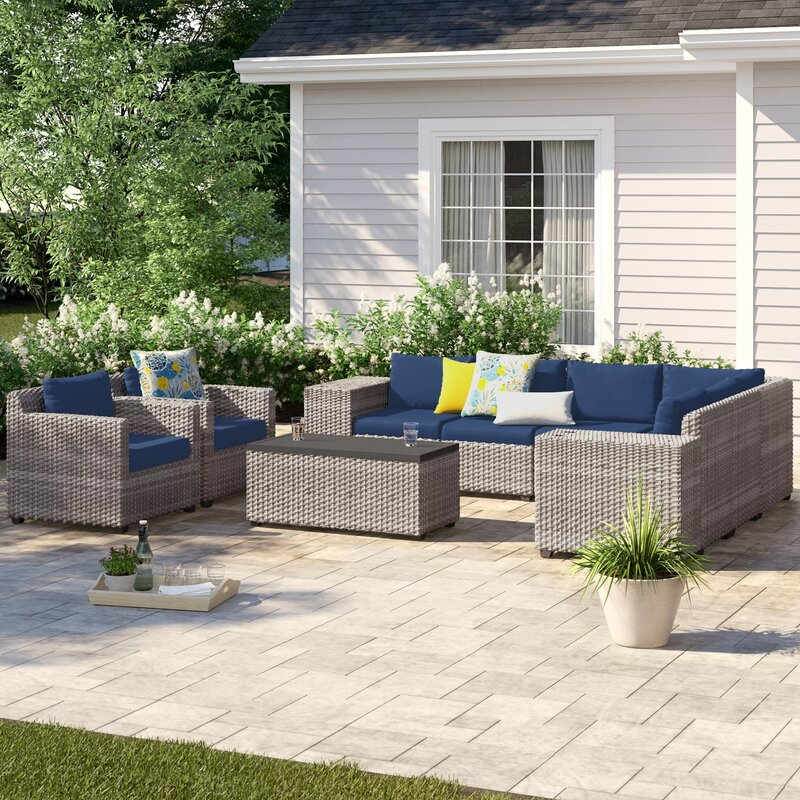 Sol 72 Outdoor Merlyn 11 Piece Sectional Seating Group with Cushions
