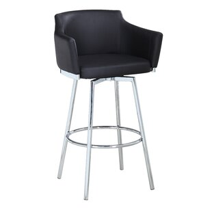 Carressa 30 Swivel Bar Stool Orren Ellis