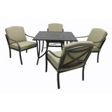 Verdugo 5 Piece Dining Set with Cushions