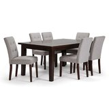 Padelsky 7 Piece Solid Wood Dining Set by Winston Porter