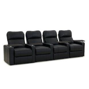 Latitude Run Contemporary Home Theater Row Seating (Row of 4)