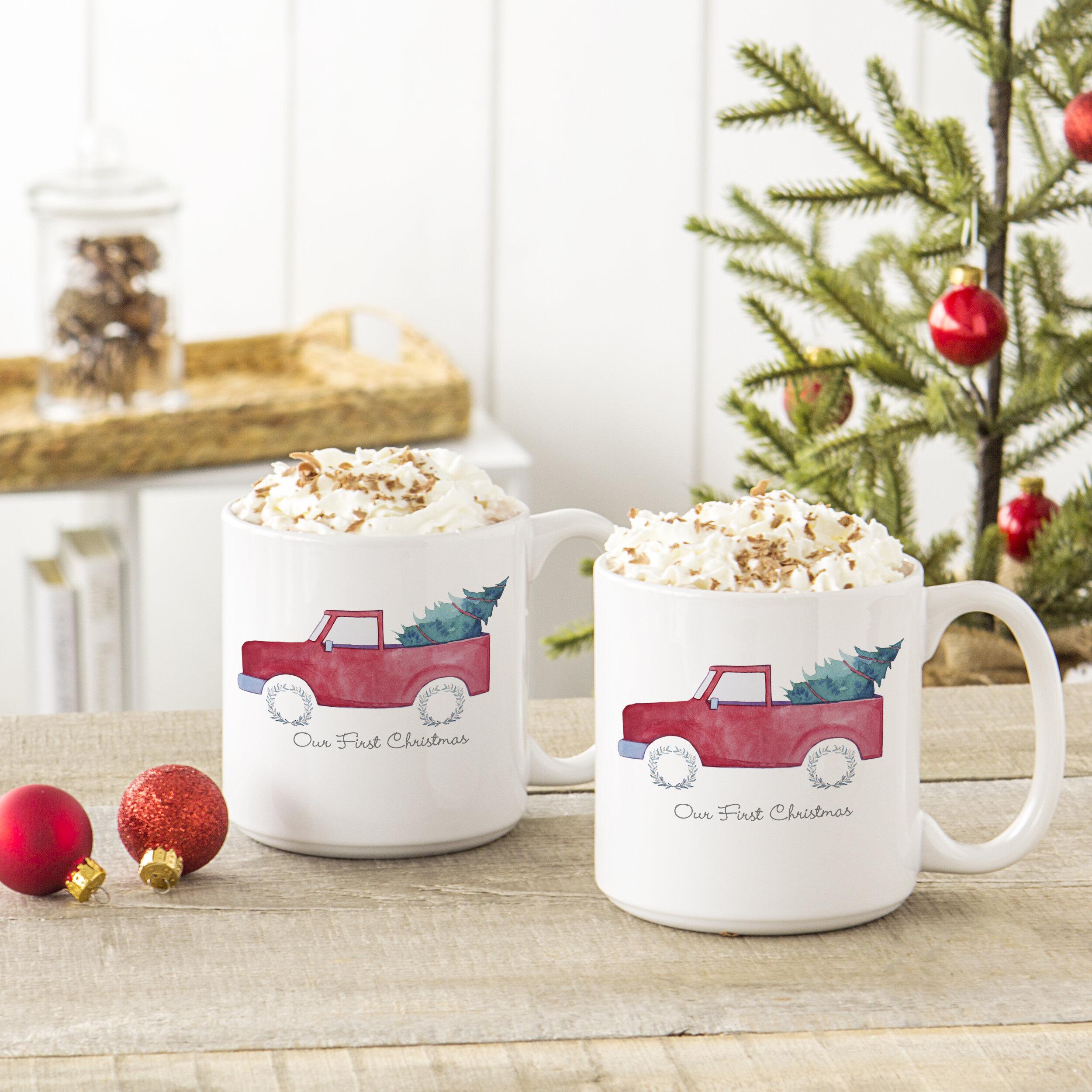 Holiday Christmas Tree Truck Coffee Mug Reviews Birch Lane