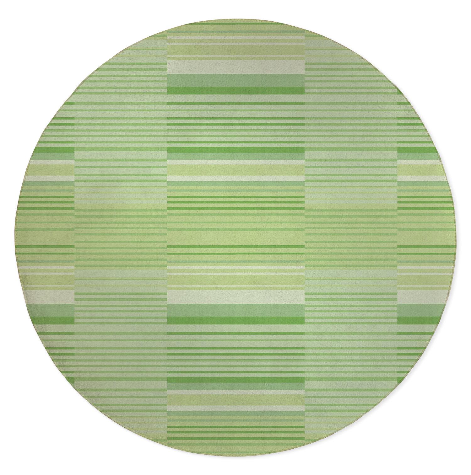Orren Ellis Gelnett Stripe Light Green