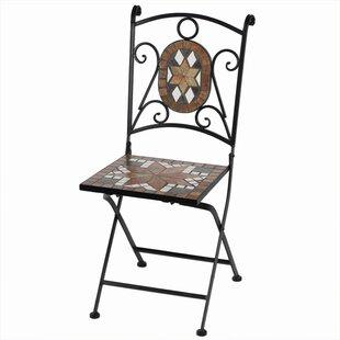 Fleur De Lis Living Cooper Square Mosaic Metal Patio Chair