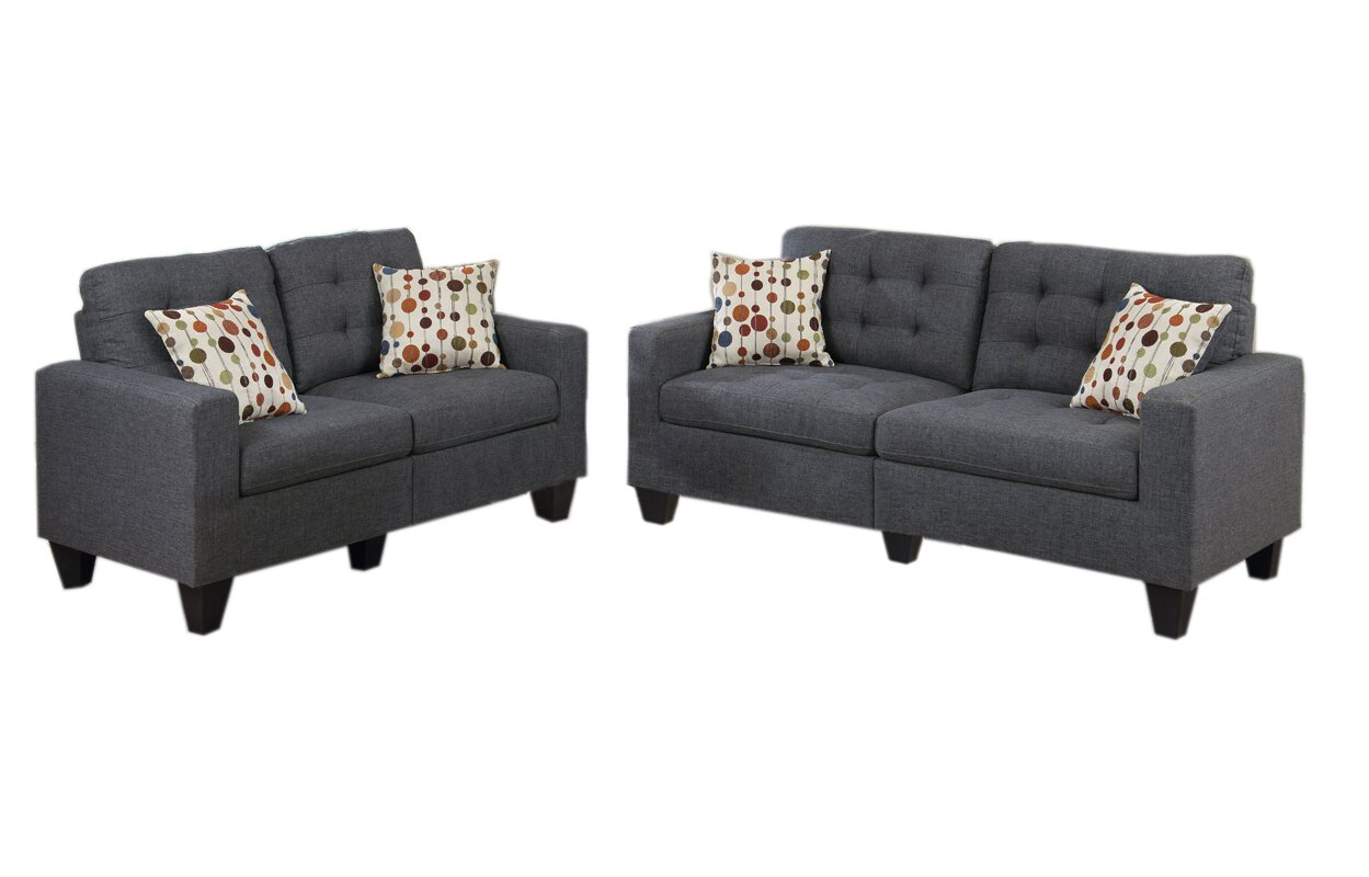 amia 2 piece living room set - Living Room Sets Modern