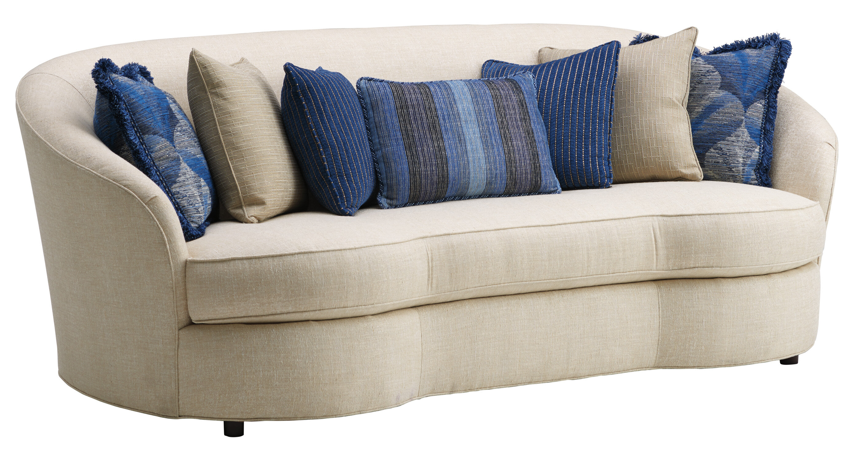 Picture of: Lexington Carlyle Curved 93 5 Flared Arm Sofa Wayfair