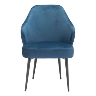 Mauldin Dining Chair Navy Velvet by Mercer41