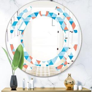 Triangular Design II Space Modern  Contemporary Frameless Wall Mirror by East Urban Home