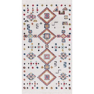 Find the perfect Hervey White Area Rug By Bloomsbury Market