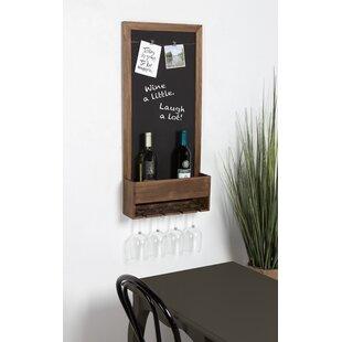 Mccaulley Wood Chalkboard 3 Bottle Wall Mounted Wine Rack by Gracie Oaks