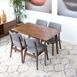 Eilish 5 - Piece Eucalyptus Solid Wood Dining Set by Corrigan Studio®