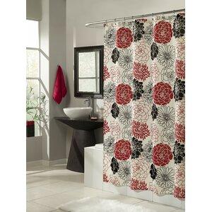 Full Bloom Microfiber Shower Curtain m.style