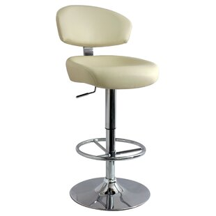 Bartholomew Swivel Adjustable Bar Stool By Metro Lane