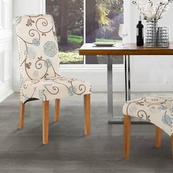 17 Stories Florez Side Chair In Brown Wayfair