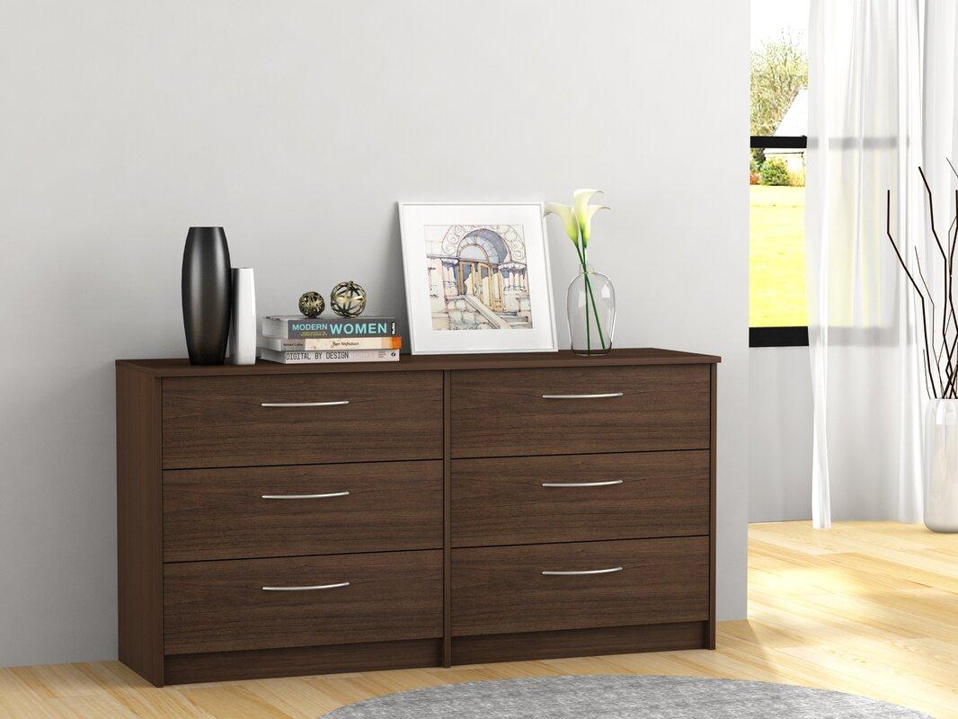 zipcode design karis  drawer double dresser  reviews  wayfair - defaultname