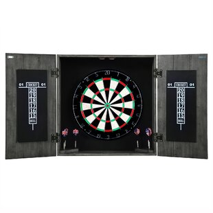 Drifter Solid Wood Dartboard and Cabinet Set by Hathaway Games