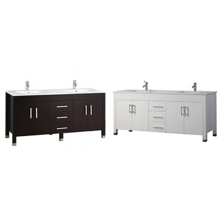 Predmore Modern 71 Double Bathroom Vanity Set by Orren Ellis
