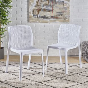 Belz Outdoor Stacking Patio Dining Chair (Set of 2)