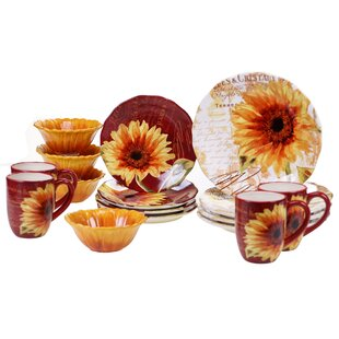 Sunflower Pattern Dinnerware | Wayfair
