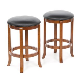 Darby Home Co Iverson 2 Piece Swivel Bar Stool Set (Set of 2)