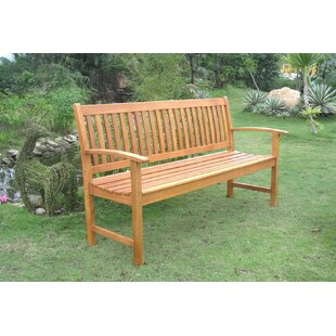 Sabbattus Balau 3-Seat Wood Garden Bench by Breakwater Bay