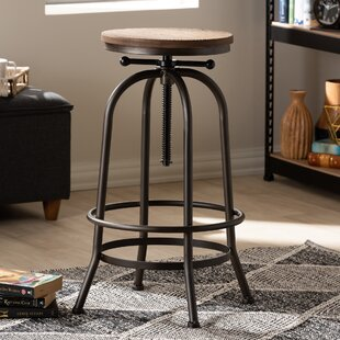 Merri Adjustable Height Swivel Bar Stool Williston Forge