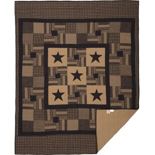 August Grove Person Single Reversible Raven Primitive Check Star Quilt