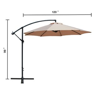 Charlton Home Driskill Hanging Patio 10' Cantilever Umbrella