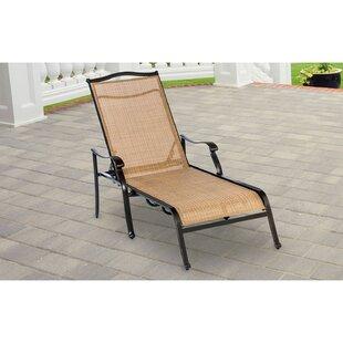 Grooms Patio Furniture Reclining Chaise Lounge by Fleur De Lis Living