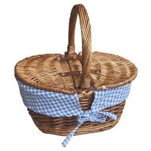 Check Oval Picnic Basket By Brambly Cottage