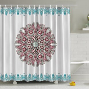 Paisley Mandala Print Shower Curtain by Ambesonne
