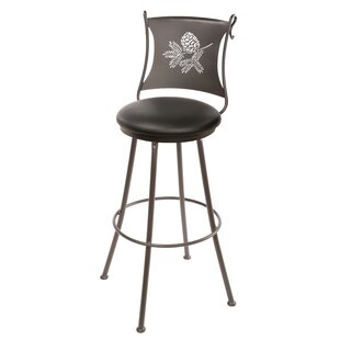 Trawick 30 Swivel Bar Stool Millwood Pines