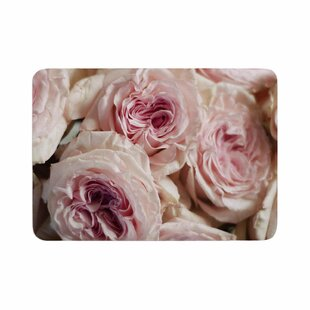 Crissy Mitchell Roses Floral Memory Foam Bath Rug