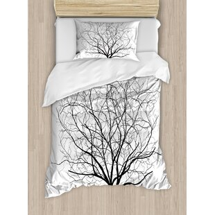 b1737640ef Apartment An Old Withered Oak Crown without Leaves Tree Branches  Illustration Duvet Cover Set