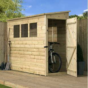 Kennewick 3 Ft. W X 6 Ft. D Shiplap Pent Wooden Shed By Sol 72 Outdoor
