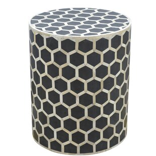 Zacharias End Table with Mother of Pearl Inlay By Brayden Studio