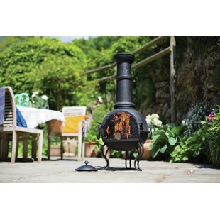 Mathew Steel Wood Burning Chiminea By Sol 72 Outdoor