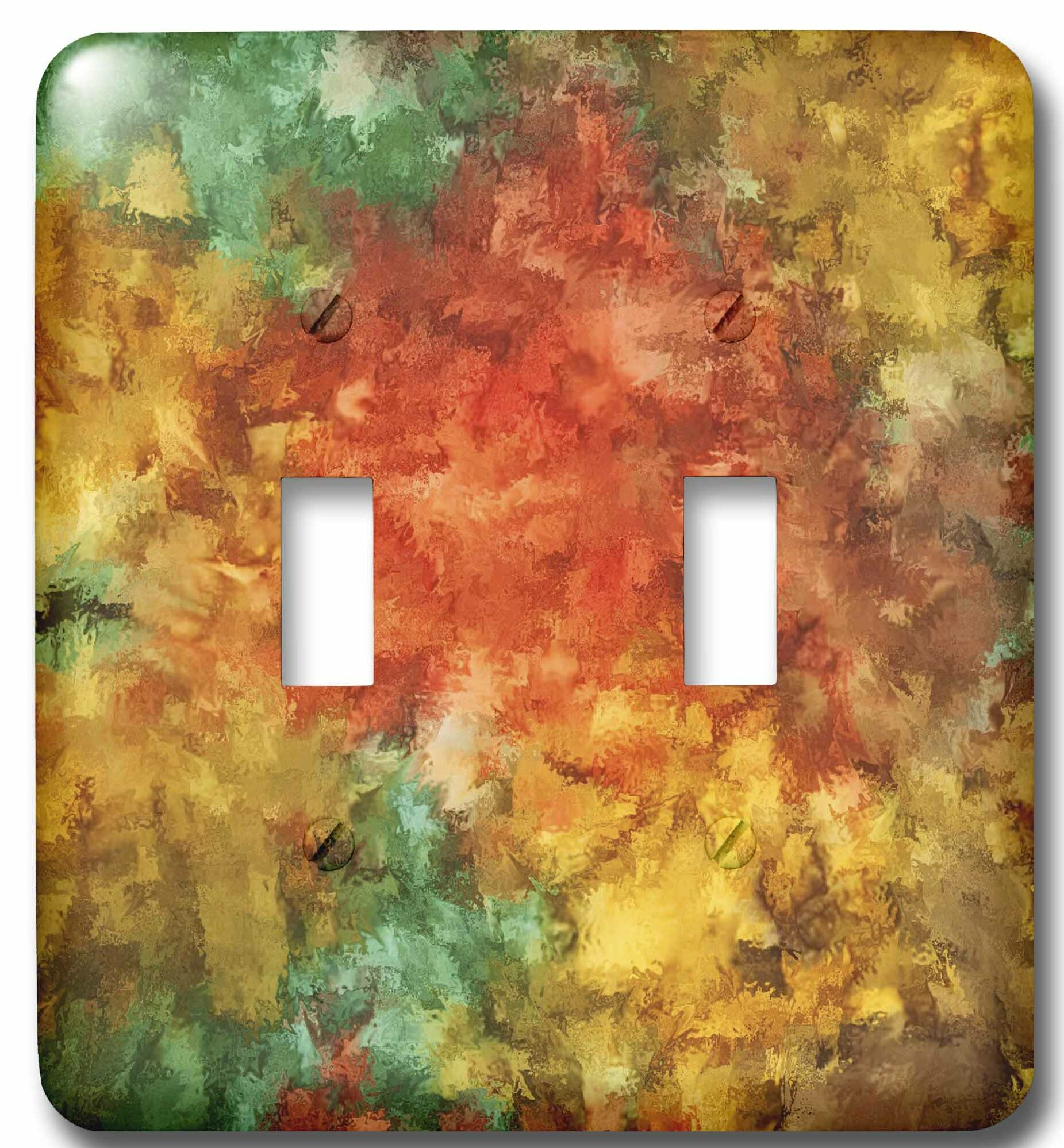 3drose Trendy Abstract 2 Gang Toggle Light Switch Wall Plate Wayfair