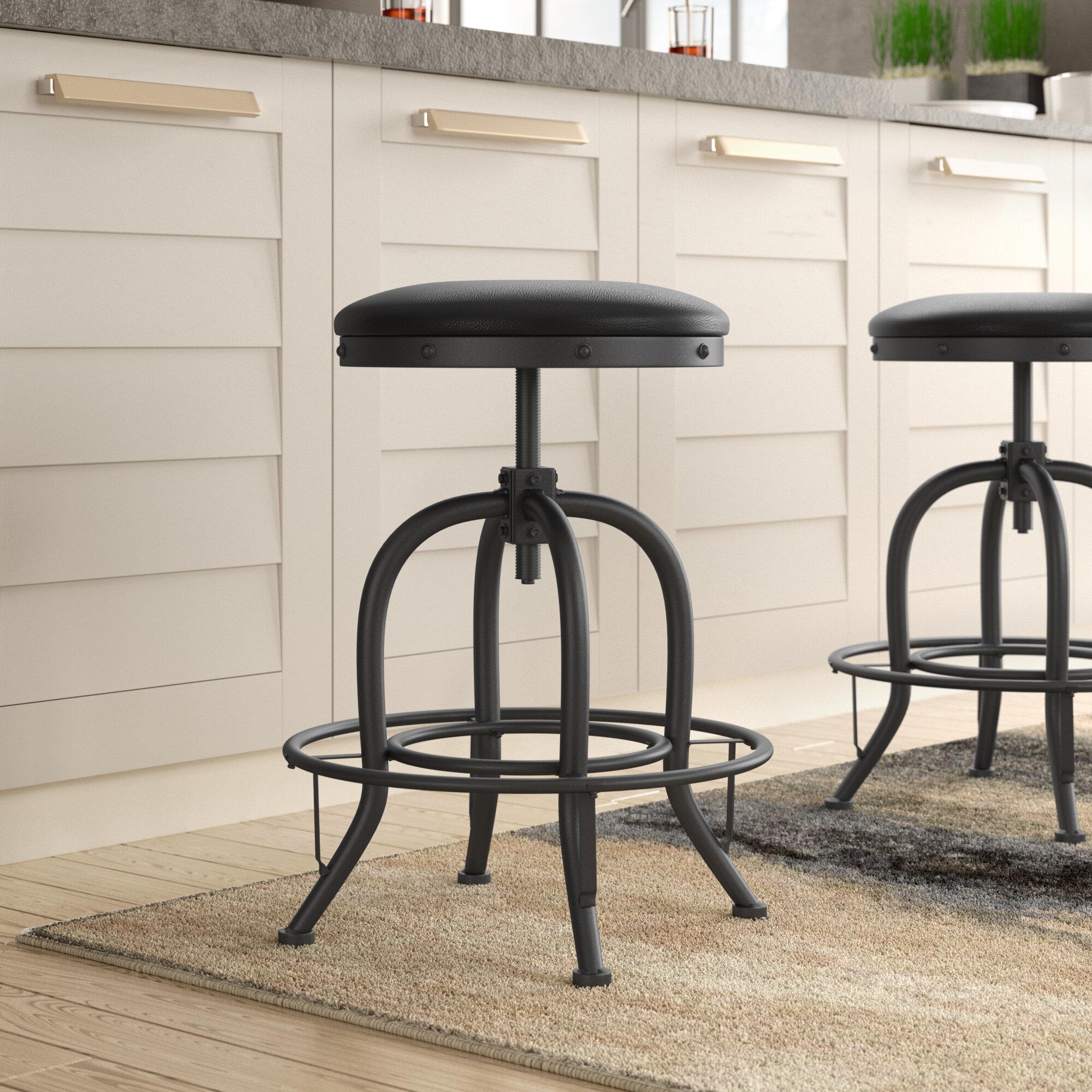 Stupendous Danita Adjustable Height Swivel Bar Stool Gamerscity Chair Design For Home Gamerscityorg