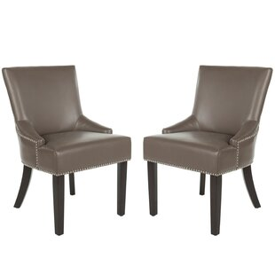 York Genuine Leather Upholstered Dining Chair (Set of 2)