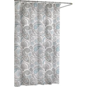 black and turquoise shower curtain. Cotton Paisley Shower Curtain Curtains You ll Love  Wayfair