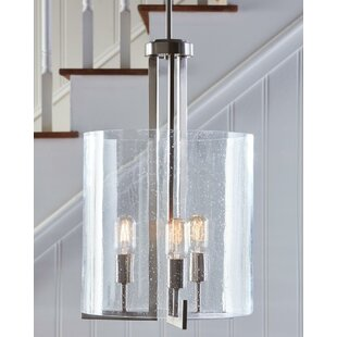 Orren Ellis Leake 3-Light Cylinder Pendant