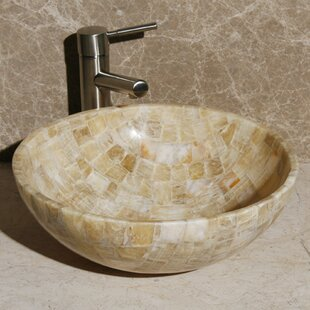 Savings Stone Circular Vessel Bathroom Sink ByAllstone Group