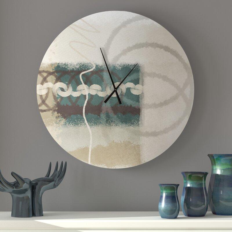 Latitude Run Well Built Capable Abstract Metal Wall Clock Wayfair