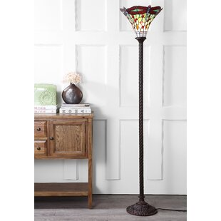 Online Reviews Ostlund Dragonfly Tiffany 71 Torchiere Floor Lamp By Loon Peak