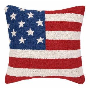 Unique Vintage American Flag Pillow | Wayfair BY04