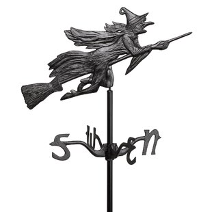 Low Price Windblown Wicked Witch Metal Weathervane